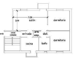 Piso en venta en Utrera de 62  m²