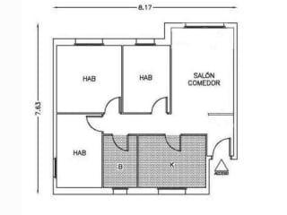 Piso en venta en Badalona de 55  m²