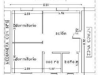 Piso en venta en Sevilla de 44  m²