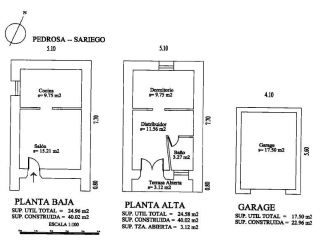 Unifamiliar en venta en Pedrosa (sariego) de 82  m²